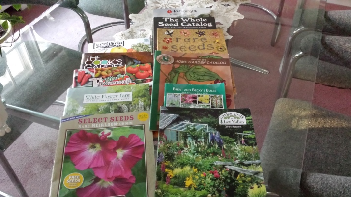 A Sampling of garden catalogs